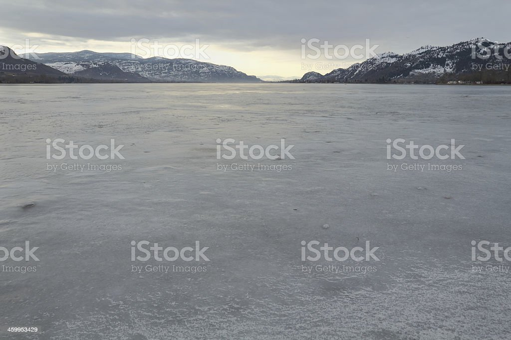 Osoyoos Lake Winter Freeze royalty-free stock photo