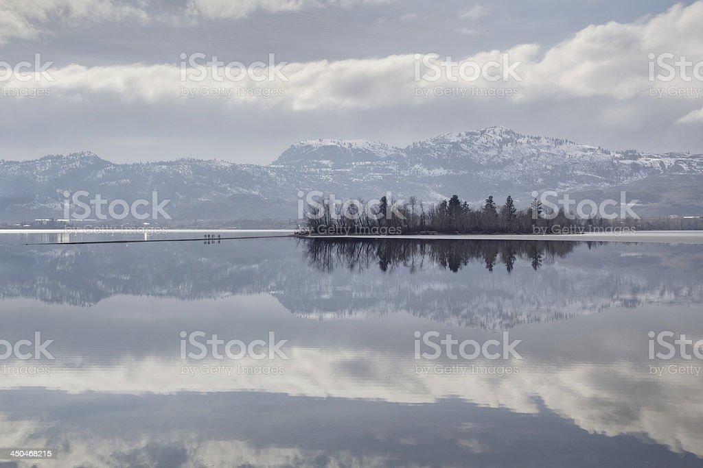 Osoyoos Lake Winter stock photo