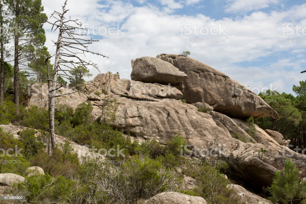 Ospedale forest and mounts, Alta Rocca road, Southern Corsica, France royalty-free stock photo