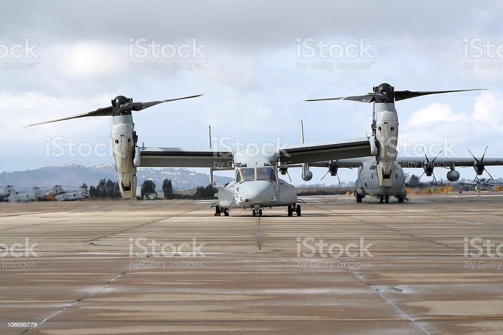 OV-22 Osprey aircraft stock photo