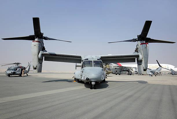 USAF MV-22 Osprey in Bahrain International Airshow stock photo