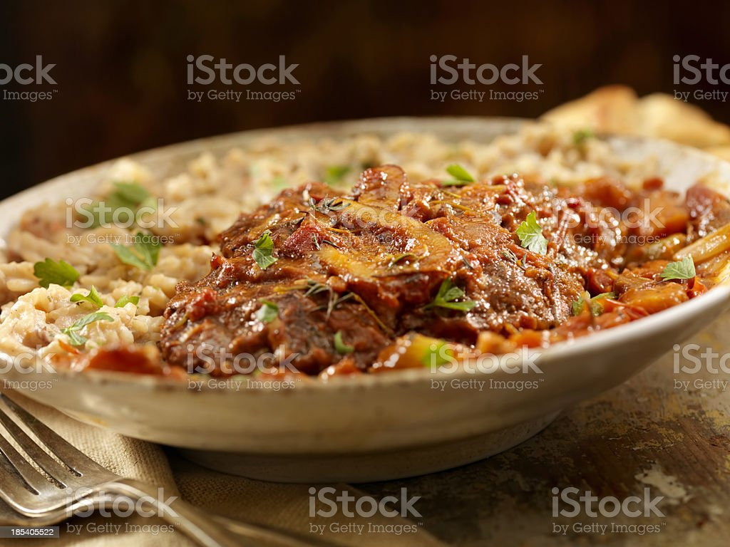 Osso Buco with Rissotto royalty-free stock photo