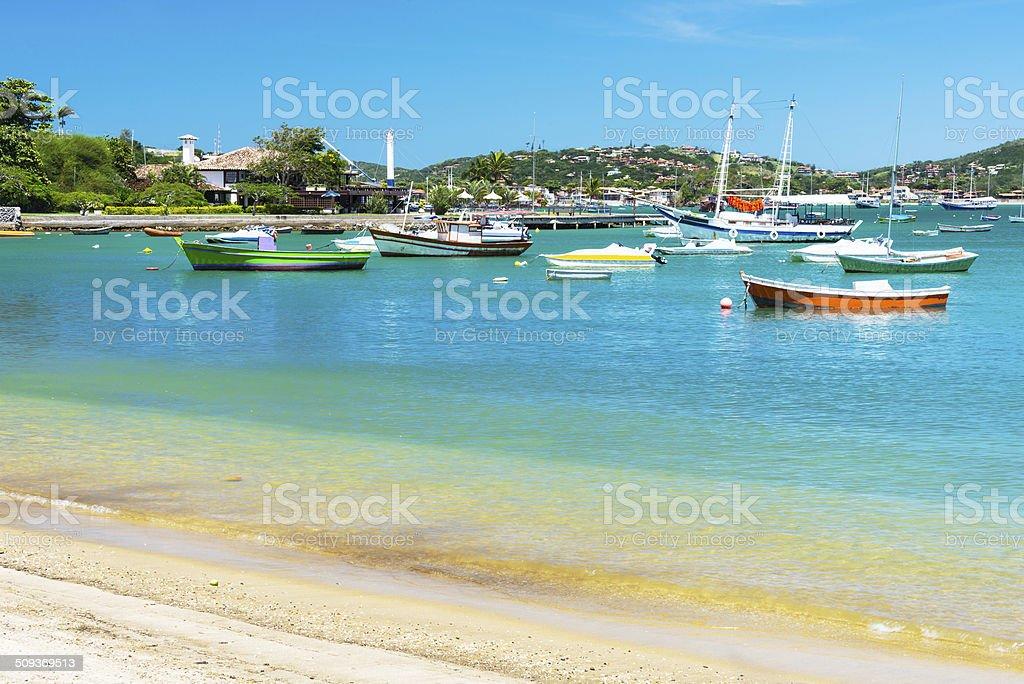 Ossos Beach in Buzios, Rio de Janeiro stock photo
