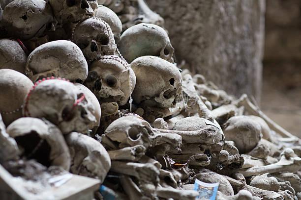 Ossuary in Naples stock photo