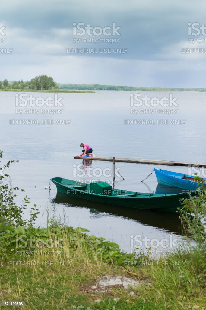 Ostaskov. Big Wash stock photo