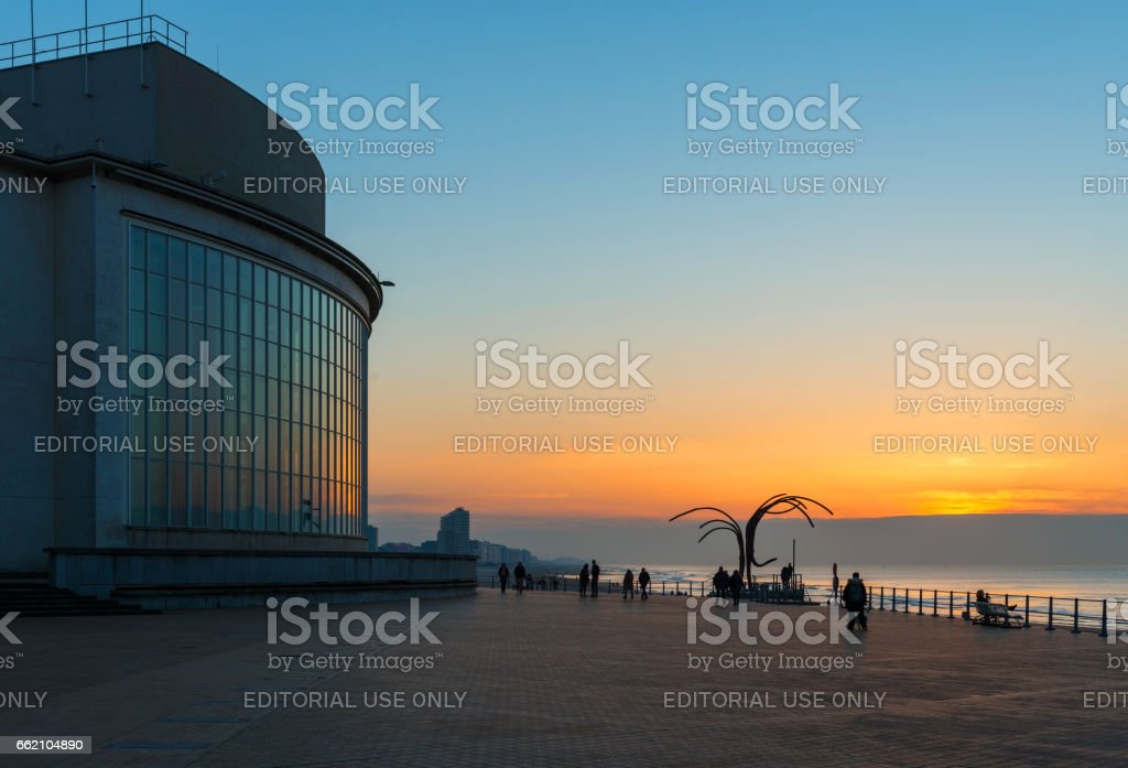 Ostend Evening Walk royalty-free stock photo