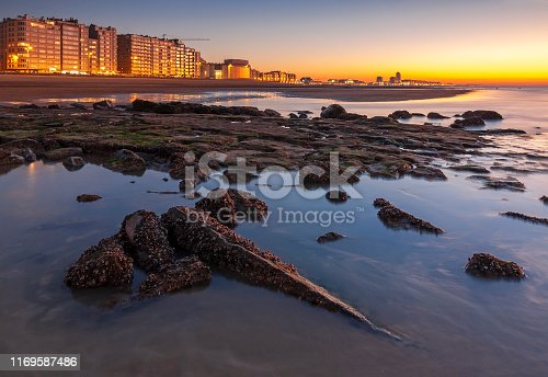 istock Ostend Night Skyline, Belgium 1169587486