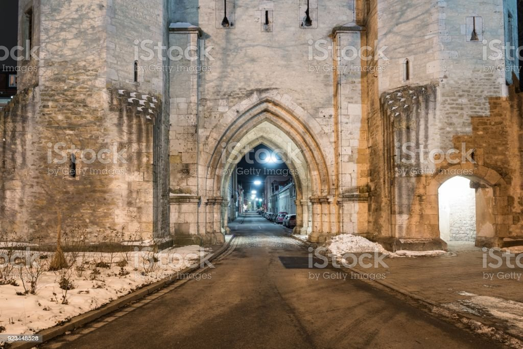 Ostentor town gate in Regensburg, Germany stock photo