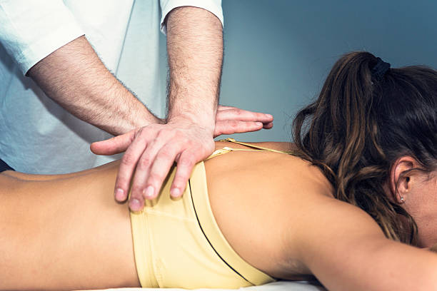 osteopathy - chiropractic care stock photos and pictures