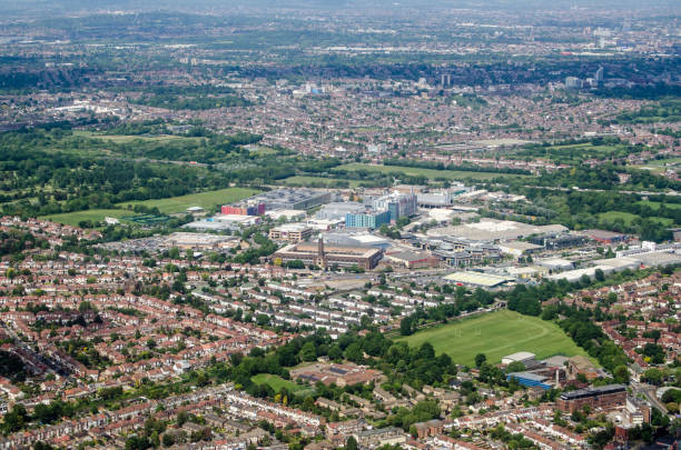 Osterley and Brentford aerial view - West London stock photo