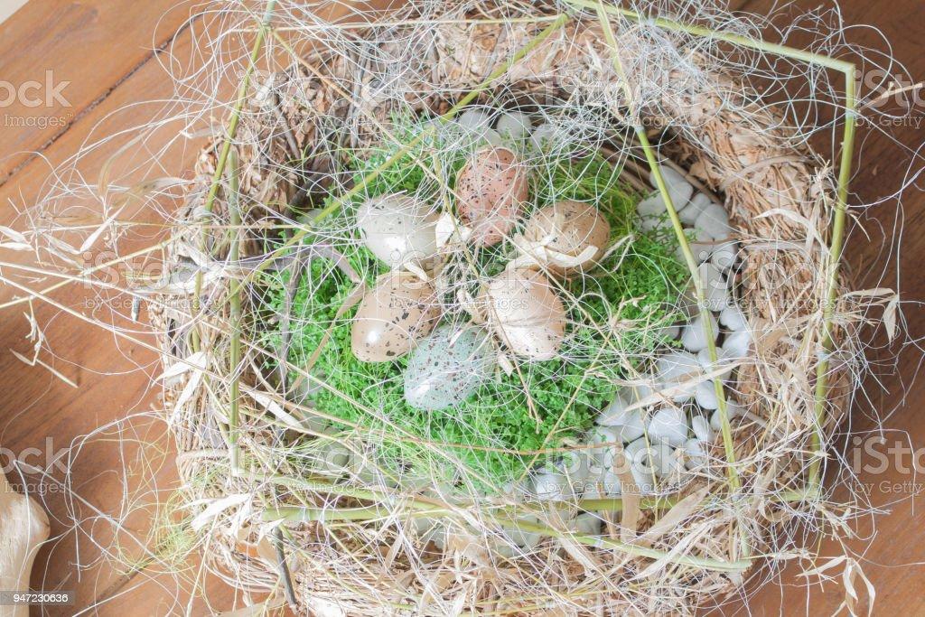 Osternest stock photo