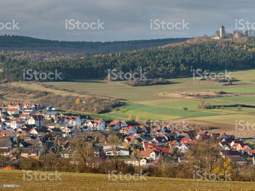 Ostheim vor der Rhön, Northern Bavaria stock photo
