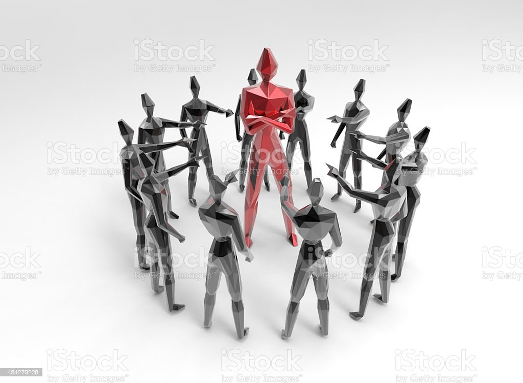 ostracism alienated different person stock photo