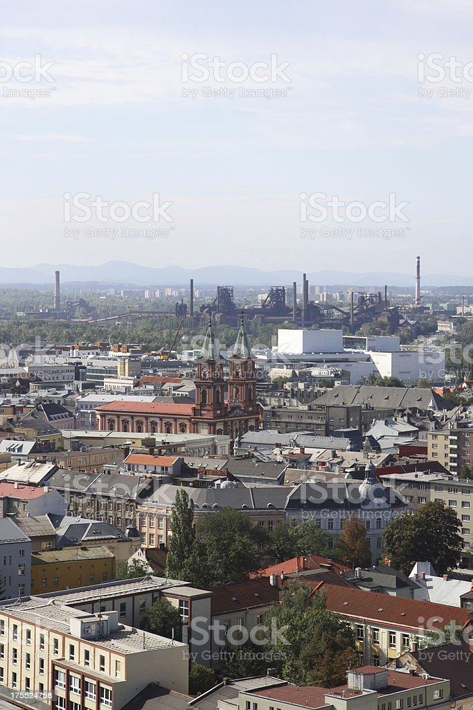 Ostrava cityscape view vertical royalty-free stock photo