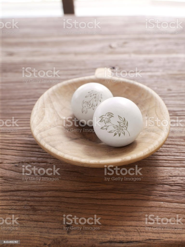 ostrich eggs stock photo