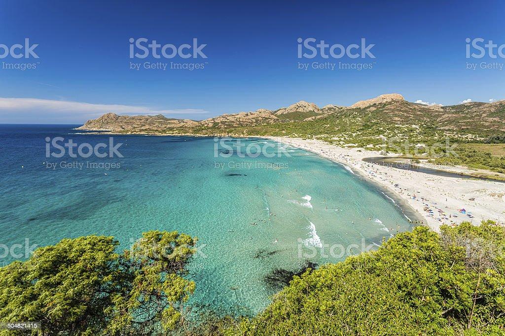 Ostriconi beach in Balagne region of Corsica stock photo