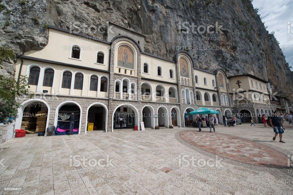 Ostrog monastery, Montenegro stock photo