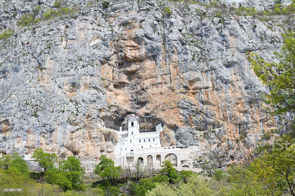 Ostrog Monastery,Montenegro stock photo