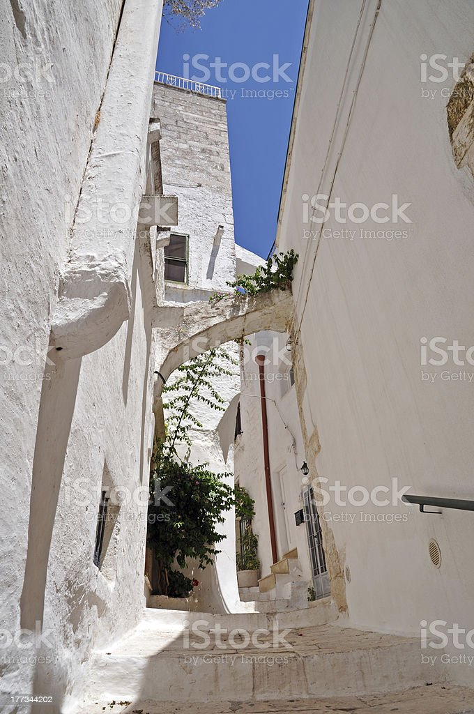 Ostuni alley royalty-free stock photo
