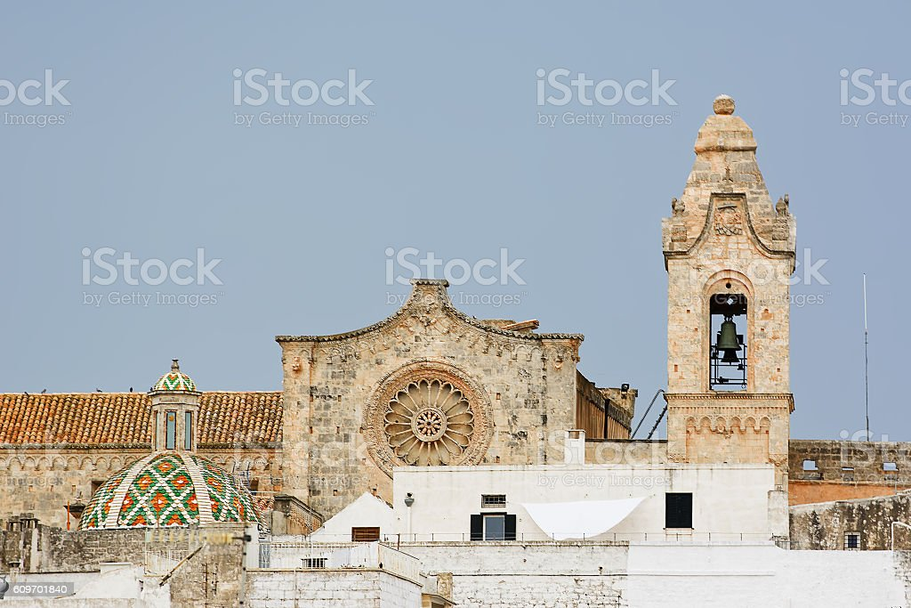 Ostuni, white city in southerm Italy stock photo