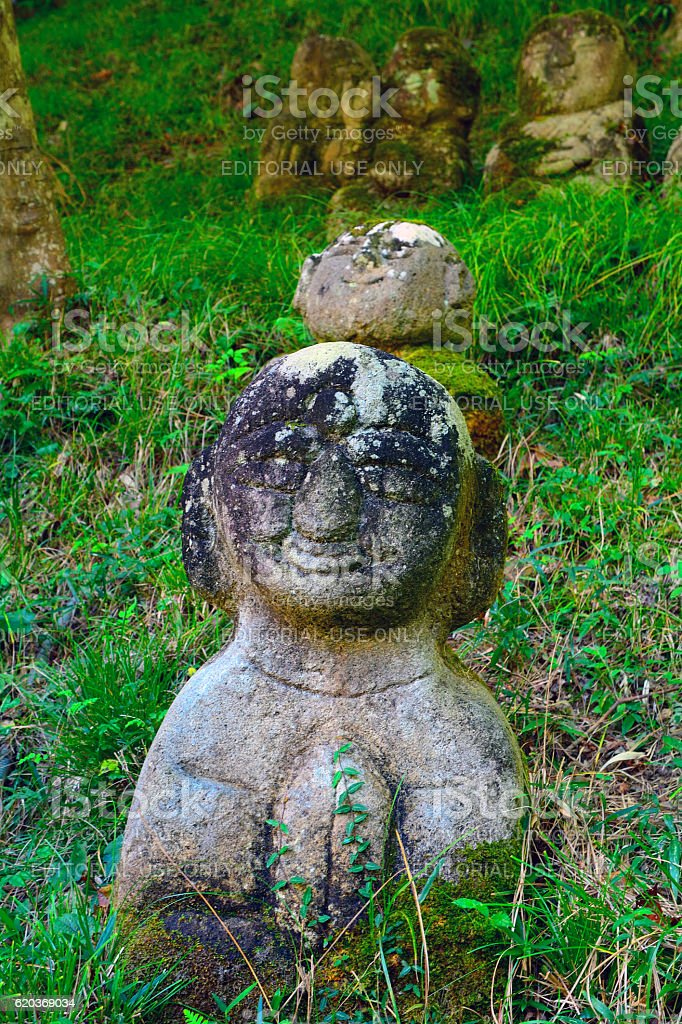 Otagi Nenbutsu Buddhist temple, Kyoto, Japan foto de stock royalty-free