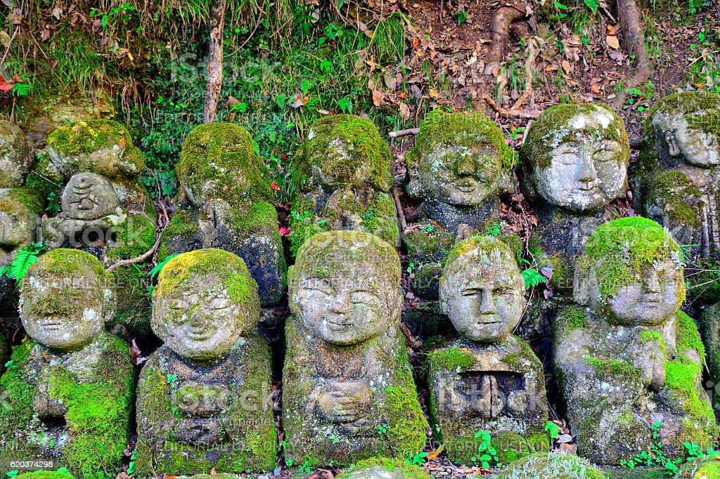 Otagi Nenbutsu Buddhist temple, Kyoto, Japan zbiór zdjęć royalty-free