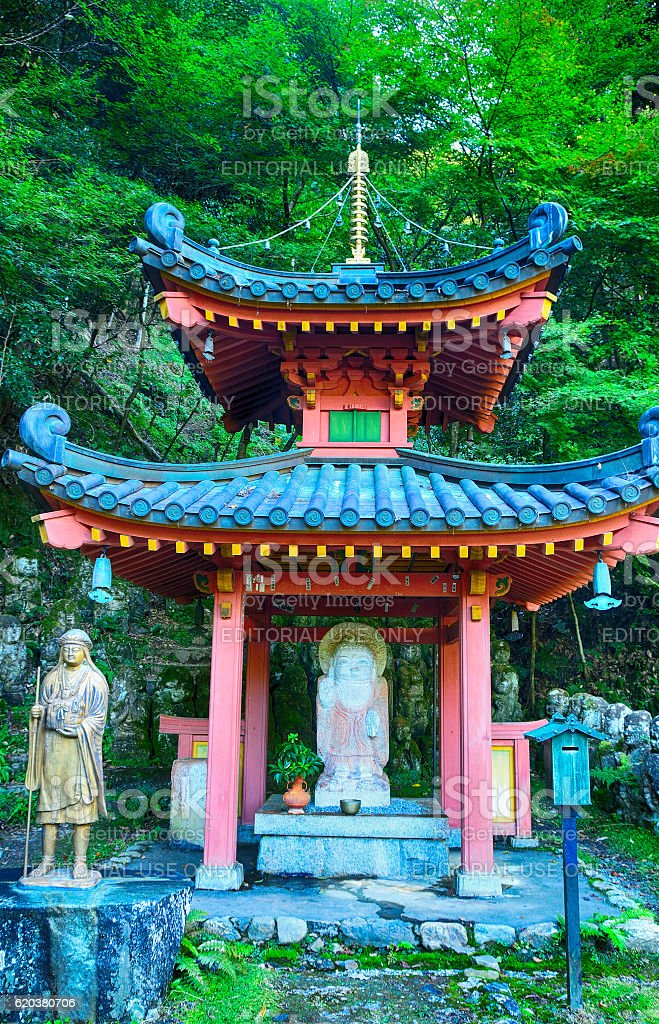 Otagi Nenbutsu Buddhist temple, Kyoto, Japan foto de stock royalty-free