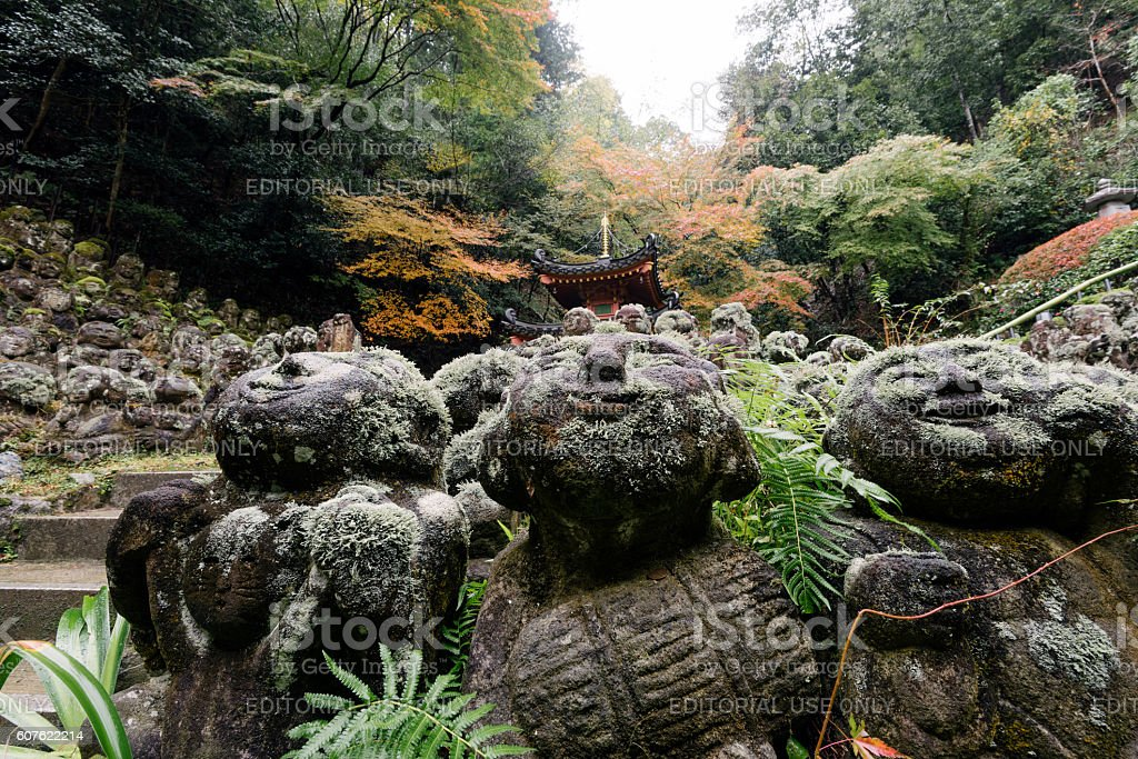 Otagi Nenbutsu-ji Temple, Kyoto, Japan. stock photo