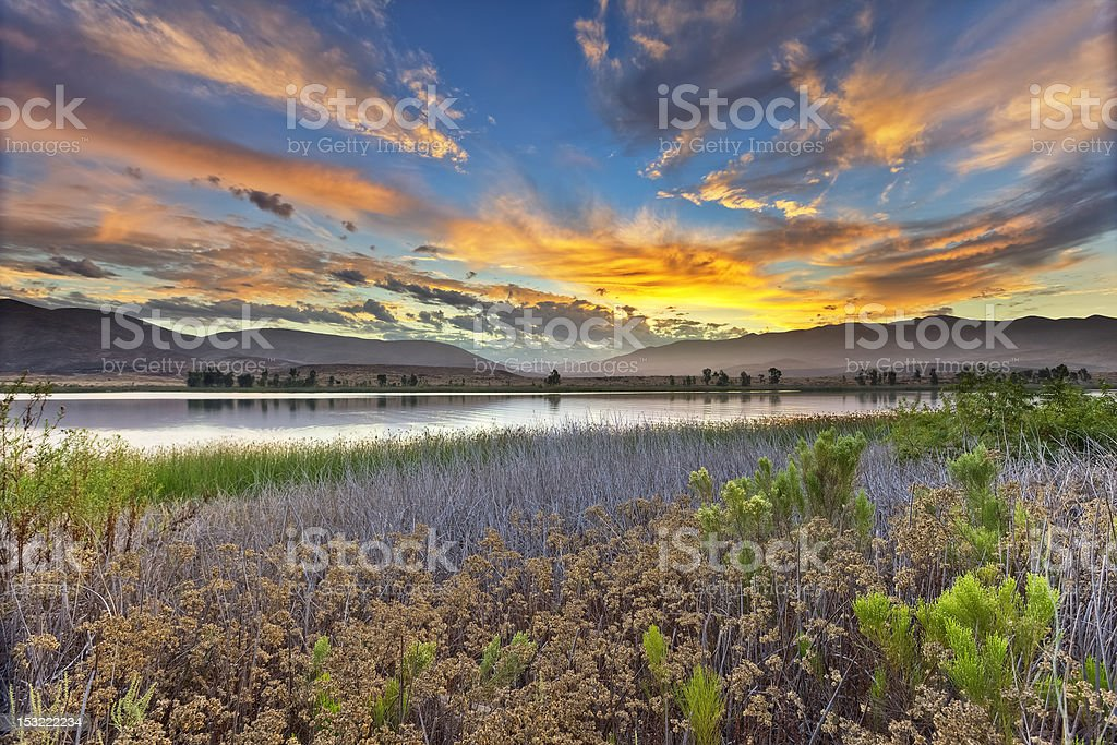 Otay Lakes Sunrise royalty-free stock photo