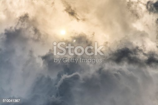 A cloudscape that looks otherworldly or like a nebula in outer space.