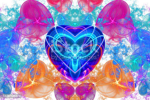 Love knows no distance…  A heart shaped fractal artwork created with jWildfire.  Suitable for love related occasions.
