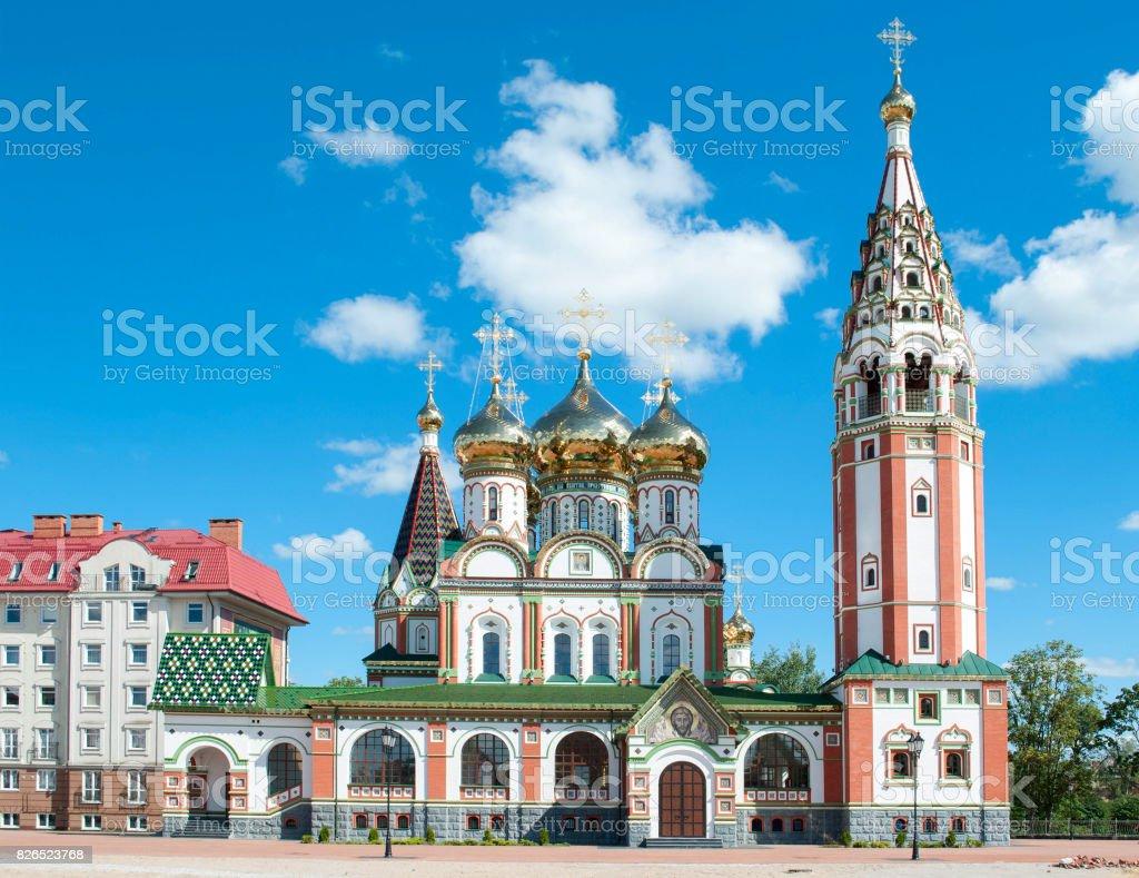 Othodox church in Gusev, Russia stock photo