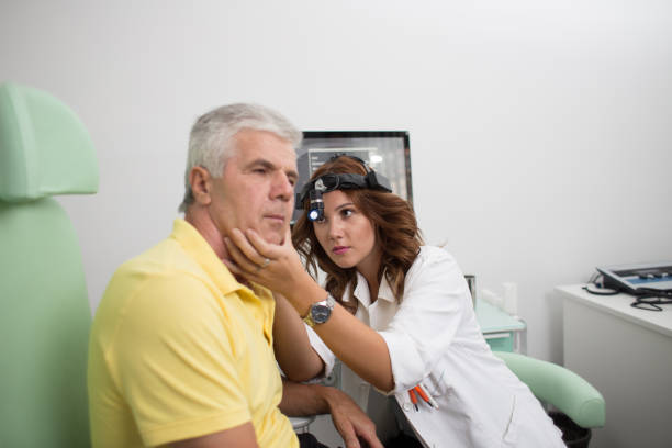 otolaryngologist's office stock photo