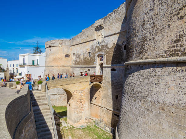 Otranto Castle, Italy stock photo