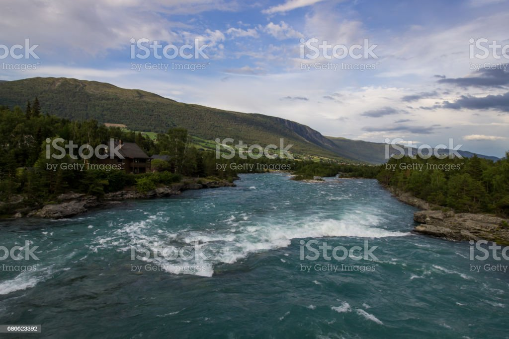 Otta river in Norway royalty-free stock photo