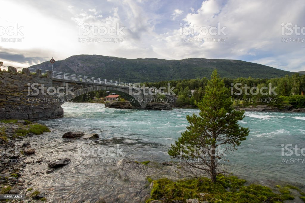奧塔河在挪威 免版稅 stock photo