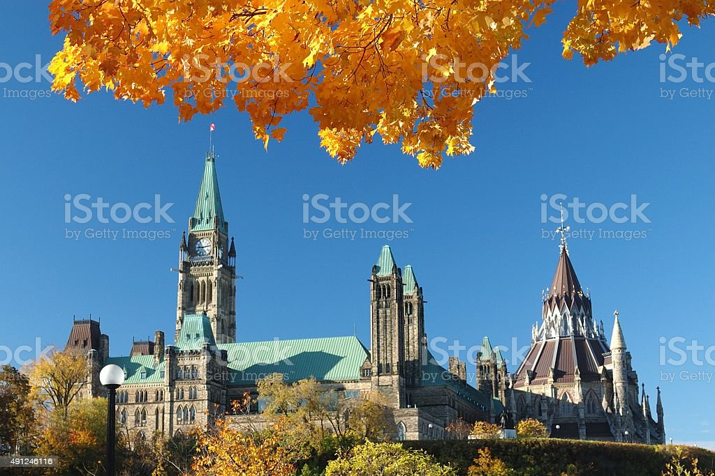 Ottawa Canada Autumn Season stock photo