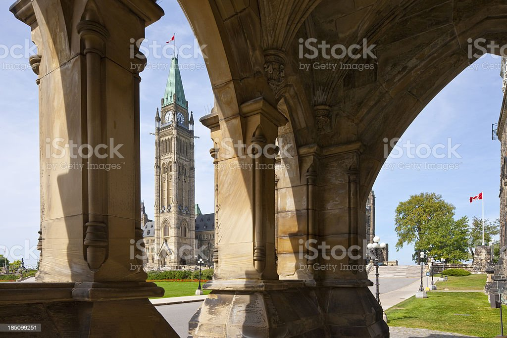 Ottawa, Government Building on Parliament Hill stock photo