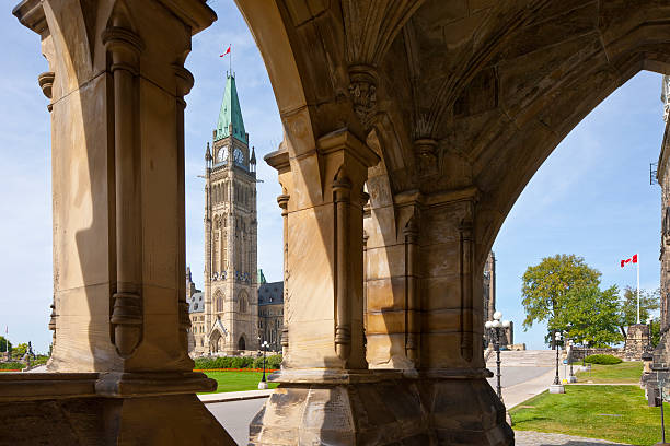 Ottawa, Regierungsgebäude auf Parliament Hill – Foto