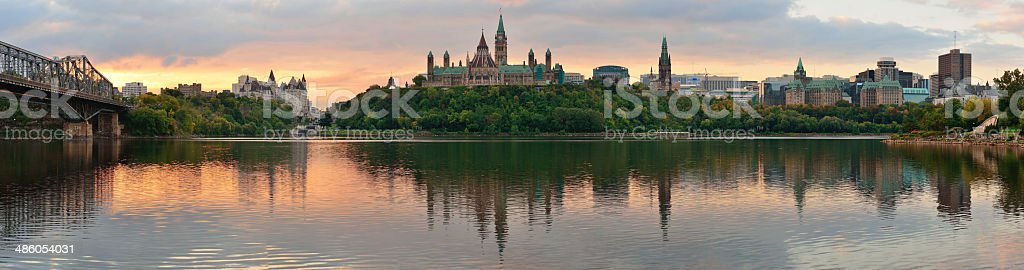 Ottawa morning stock photo