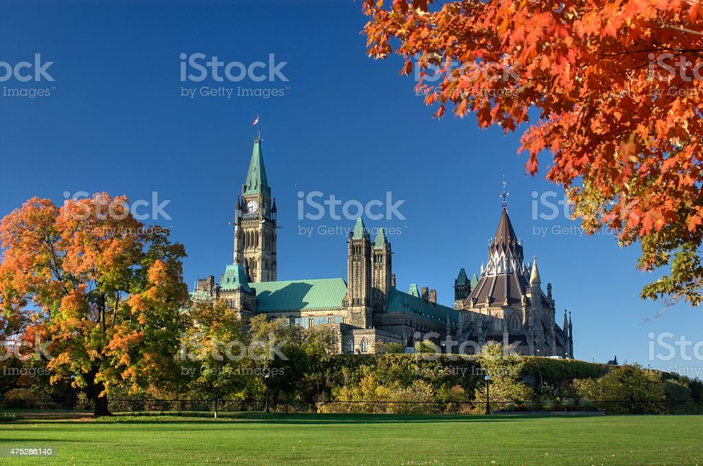 Ottawa Ontario Canada: Autumn Day stock photo
