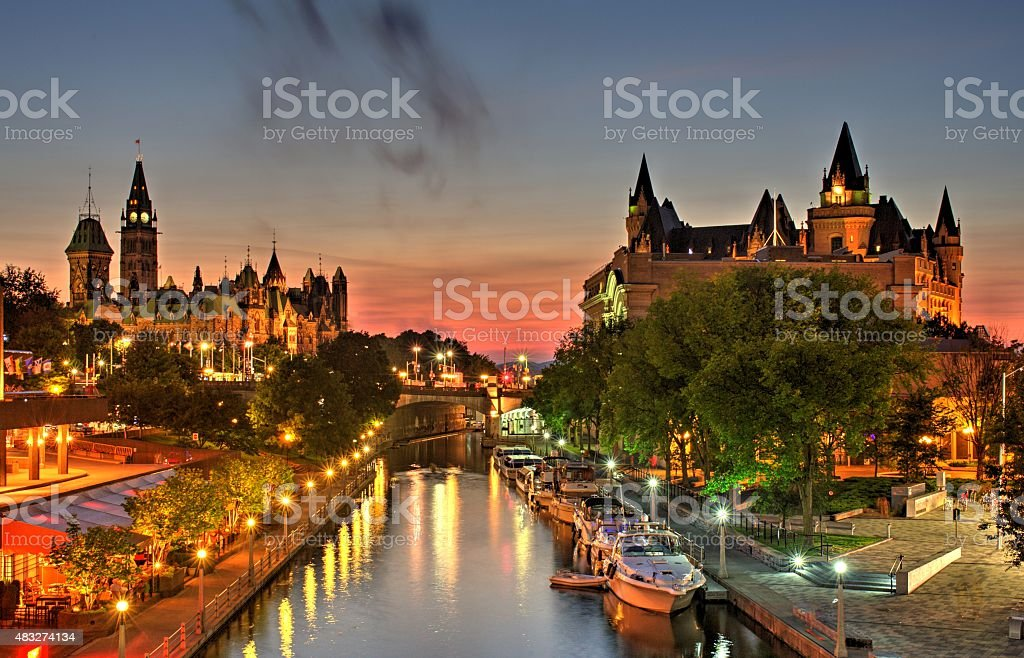 Ottawa Ontario Canada Summer Sunset stock photo