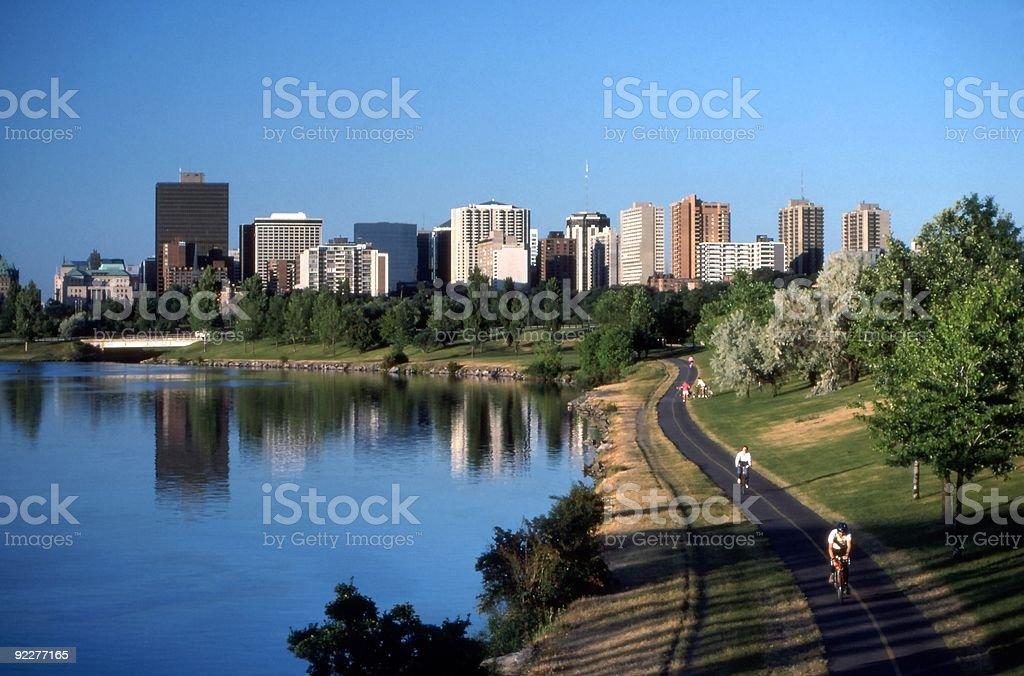 Ottawa Parkway and Skyline royalty-free stock photo