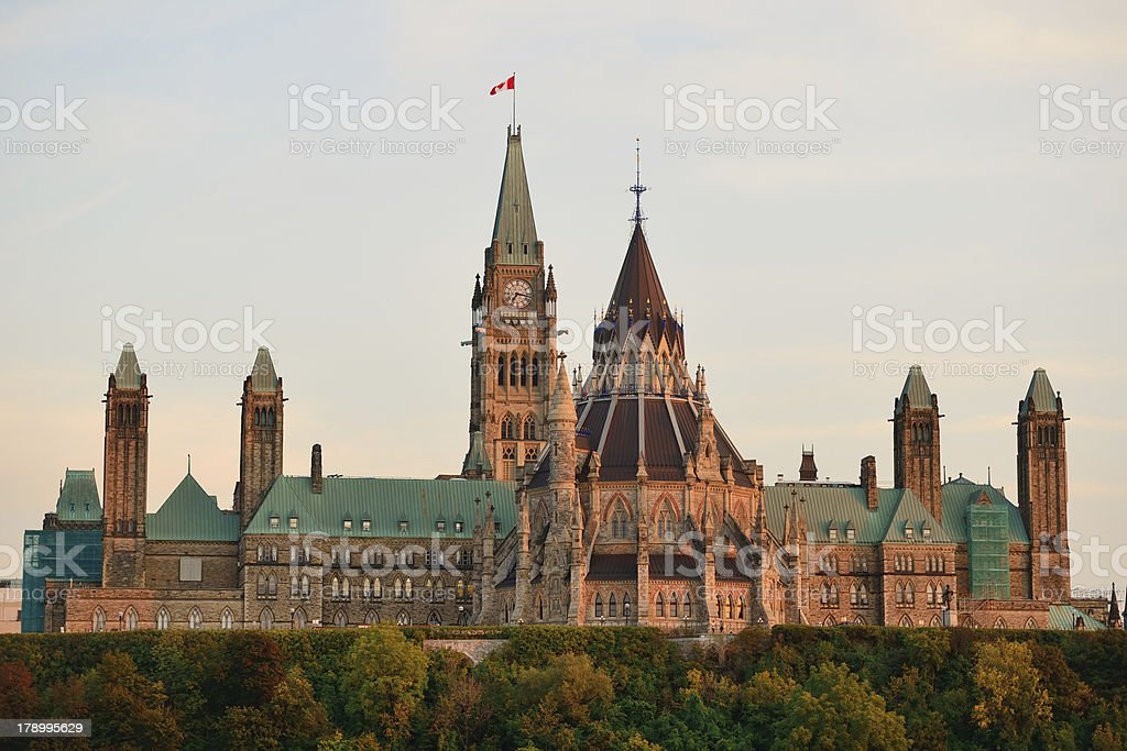 Ottawa Parliament Hill building royalty-free stock photo