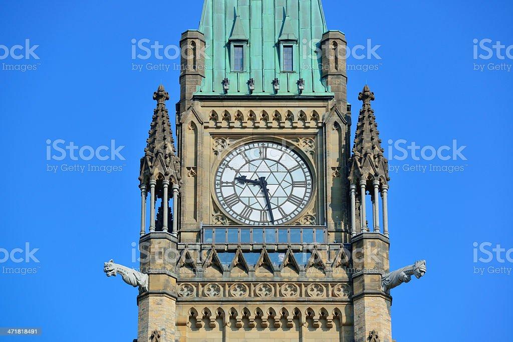 Ottawa Parliament Hill building royalty-free stock photo