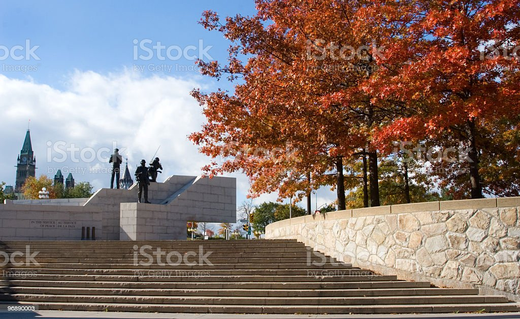 Ottawa War Memorial in the Fall royalty-free stock photo