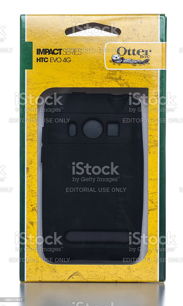 OtterBox Impact Series HTC EVO 4G protector cover box royalty-free stock photo