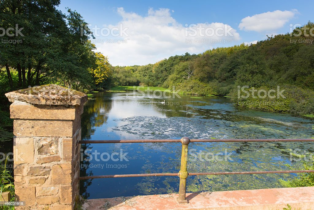 Otterhead Lake East Devon England uk in the Blackdown Hills stock photo