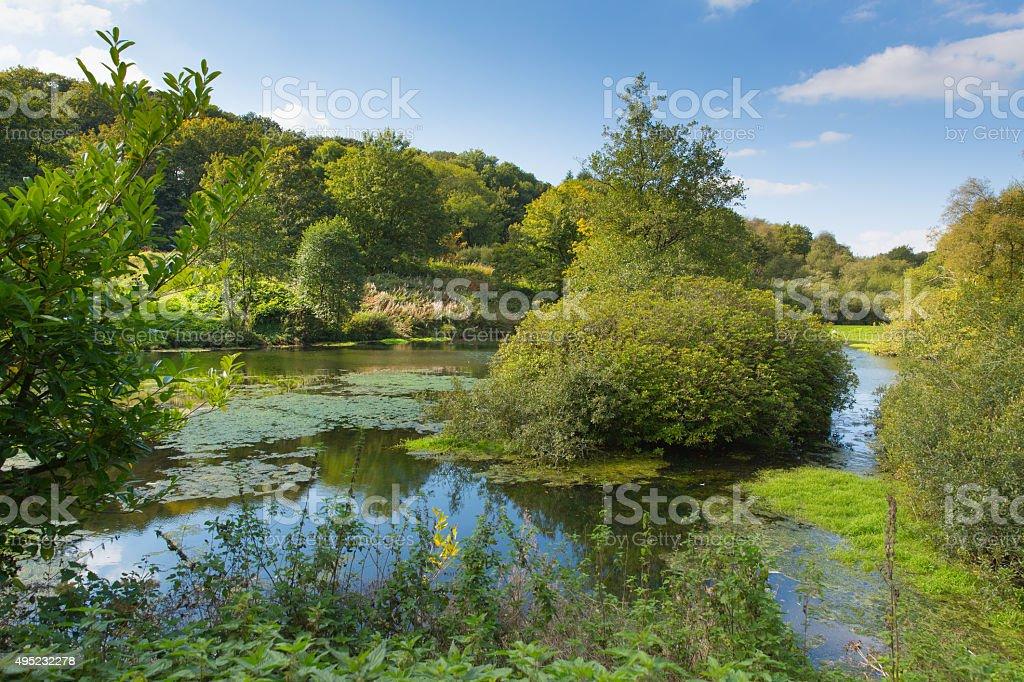 Otterhead Lakes East Devon England uk in the Blackdown Hills stock photo