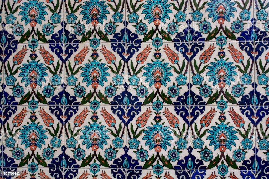 Ottoman ancient Handmade Turkish Tiles - Royalty-free Ancient Stock Photo